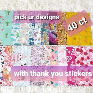 40 ct choose your own designs polymailer w sticker
